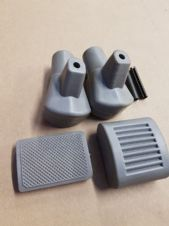 STAND FEET KICKSTART AND BRAKE PEDAL RUBBER WITH PINS